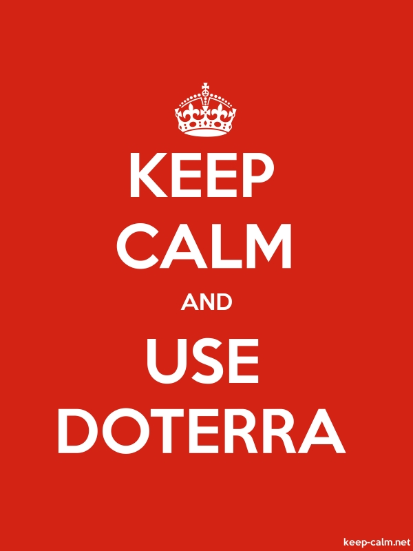 KEEP CALM AND USE DOTERRA - white/red - Default (600x800)