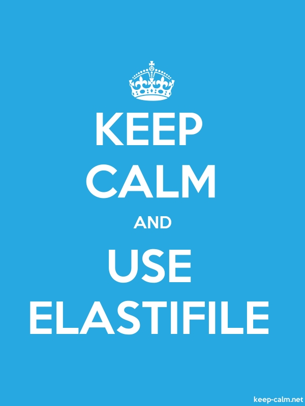 KEEP CALM AND USE ELASTIFILE - white/blue - Default (600x800)