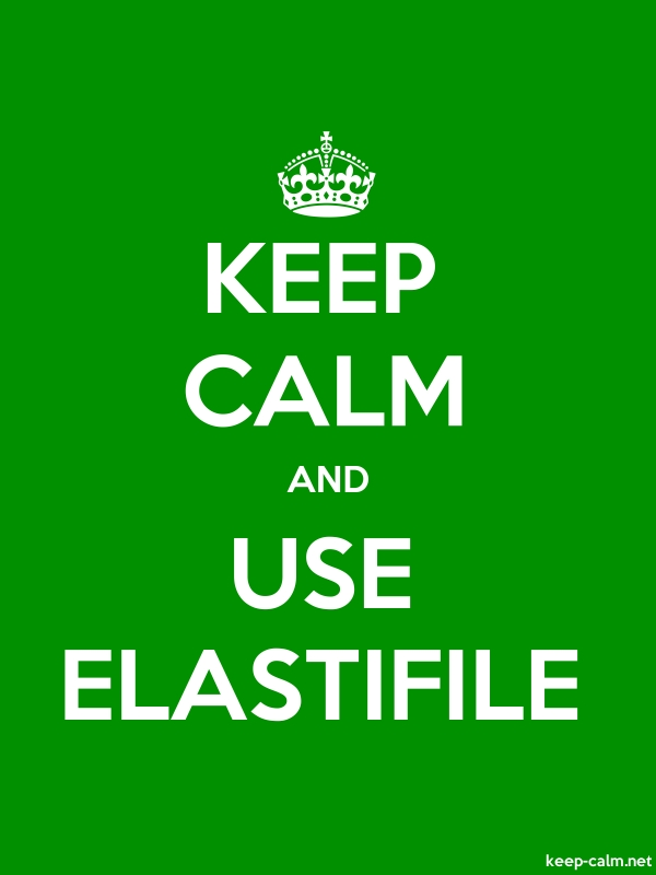 KEEP CALM AND USE ELASTIFILE - white/green - Default (600x800)
