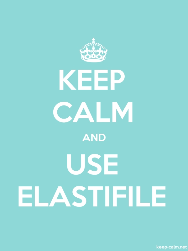 KEEP CALM AND USE ELASTIFILE - white/lightblue - Default (600x800)