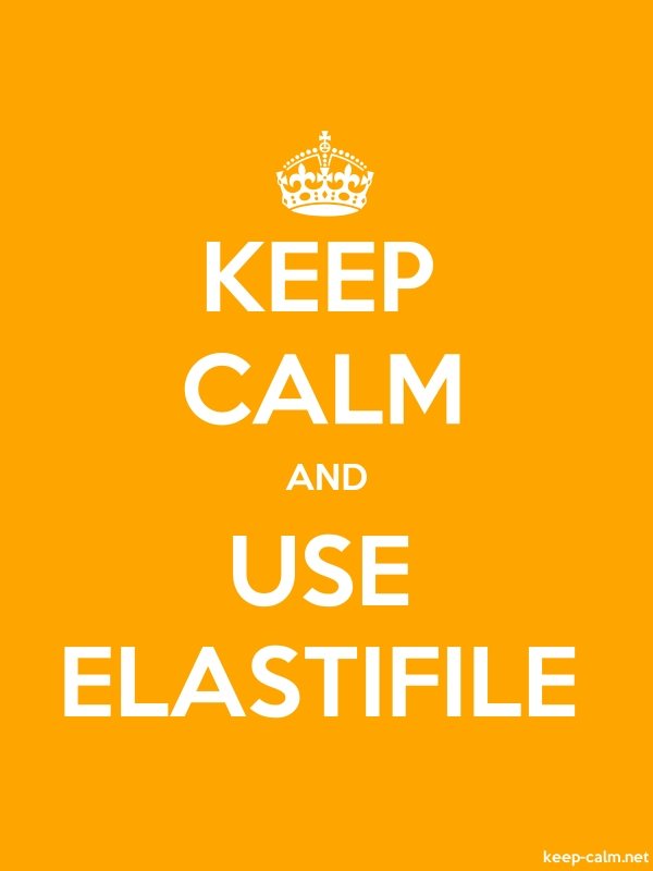 KEEP CALM AND USE ELASTIFILE - white/orange - Default (600x800)