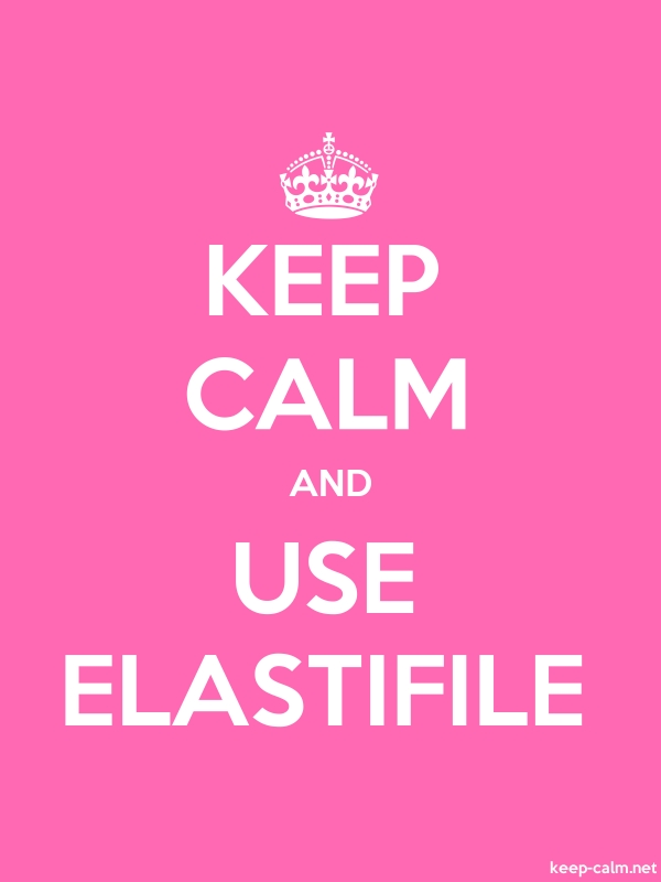 KEEP CALM AND USE ELASTIFILE - white/pink - Default (600x800)