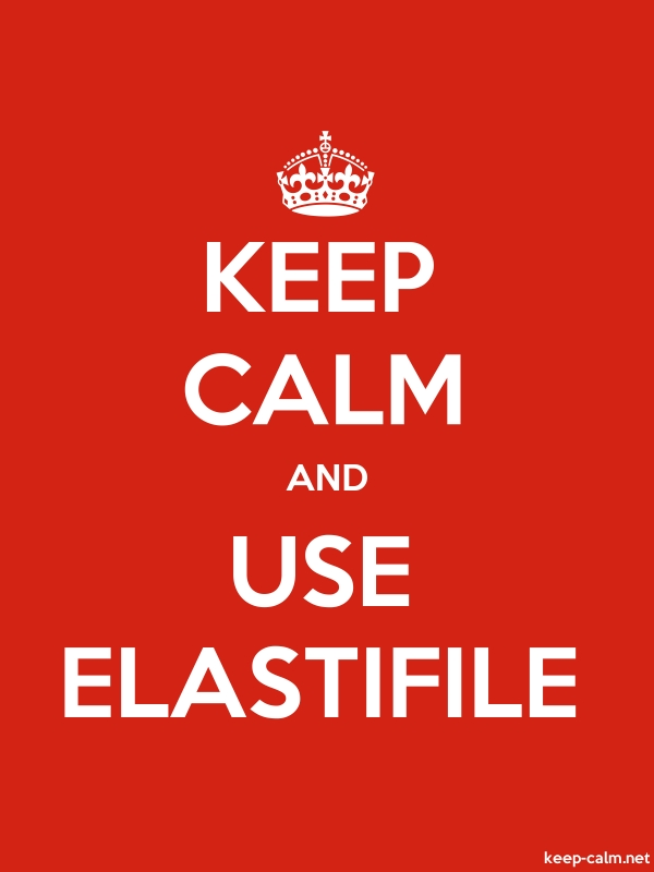 KEEP CALM AND USE ELASTIFILE - white/red - Default (600x800)