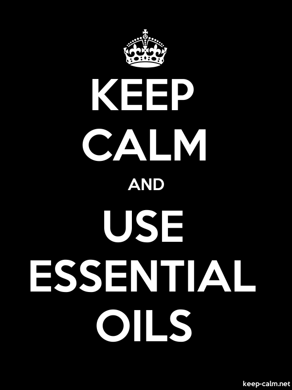 KEEP CALM AND USE ESSENTIAL OILS - white/black - Default (600x800)