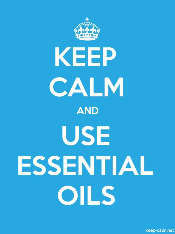 KEEP CALM AND USE ESSENTIAL OILS - white/blue - Default (600x800)