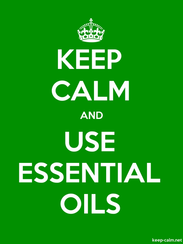 KEEP CALM AND USE ESSENTIAL OILS - white/green - Default (600x800)