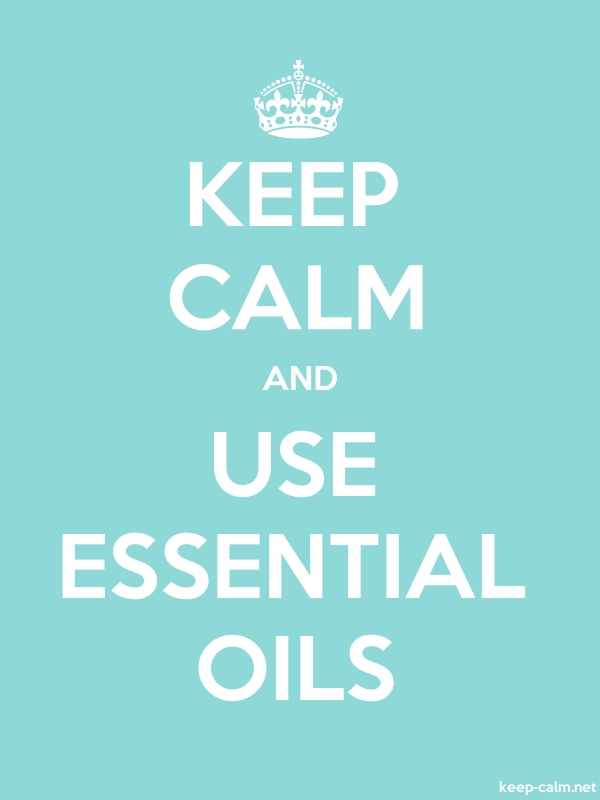 KEEP CALM AND USE ESSENTIAL OILS - white/lightblue - Default (600x800)
