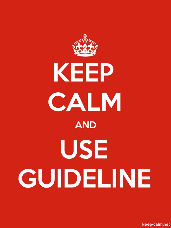 KEEP CALM AND USE GUIDELINE - white/red - Default (600x800)