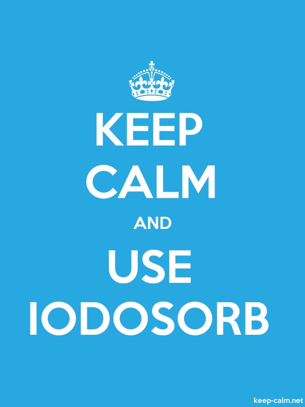 KEEP CALM AND USE IODOSORB - white/blue - Default (600x800)