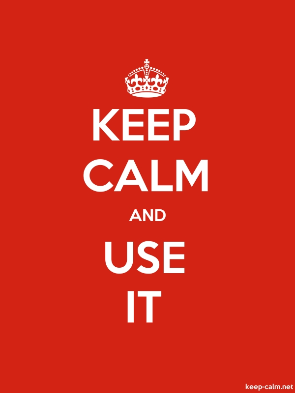 KEEP CALM AND USE IT - white/red - Default (600x800)