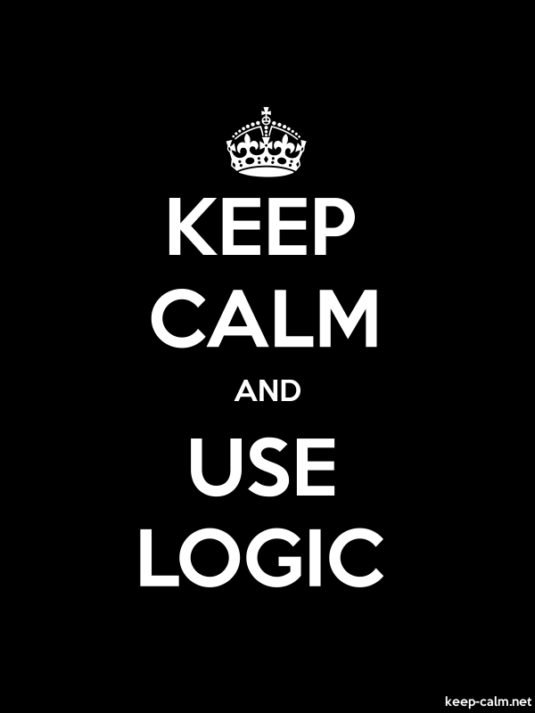 KEEP CALM AND USE LOGIC - white/black - Default (600x800)