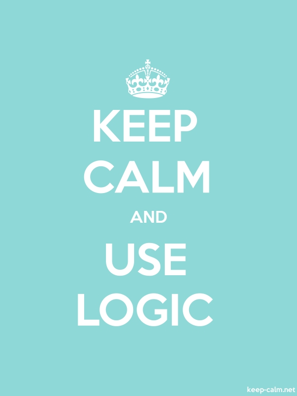 KEEP CALM AND USE LOGIC - white/lightblue - Default (600x800)