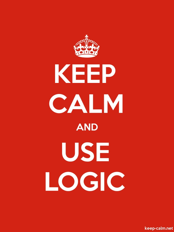 KEEP CALM AND USE LOGIC - white/red - Default (600x800)