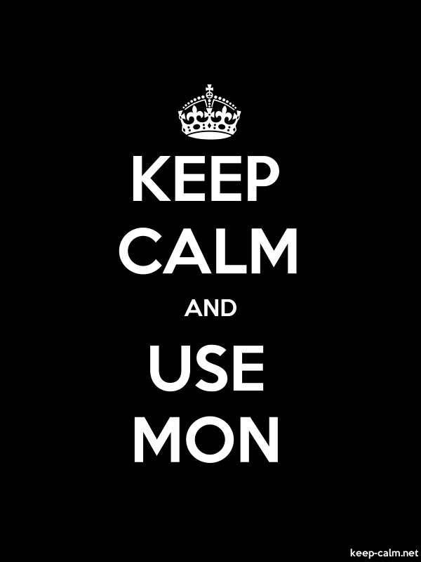 KEEP CALM AND USE MON - white/black - Default (600x800)