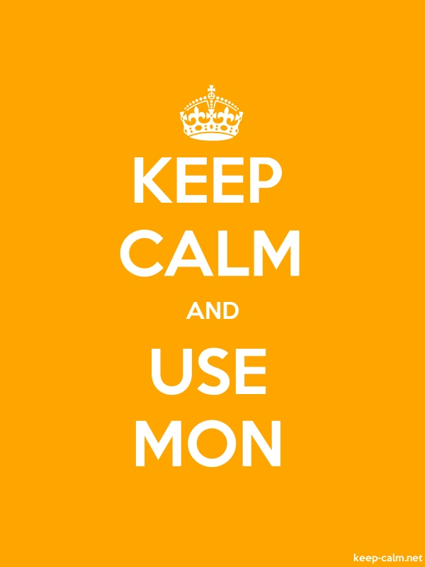 KEEP CALM AND USE MON - white/orange - Default (600x800)