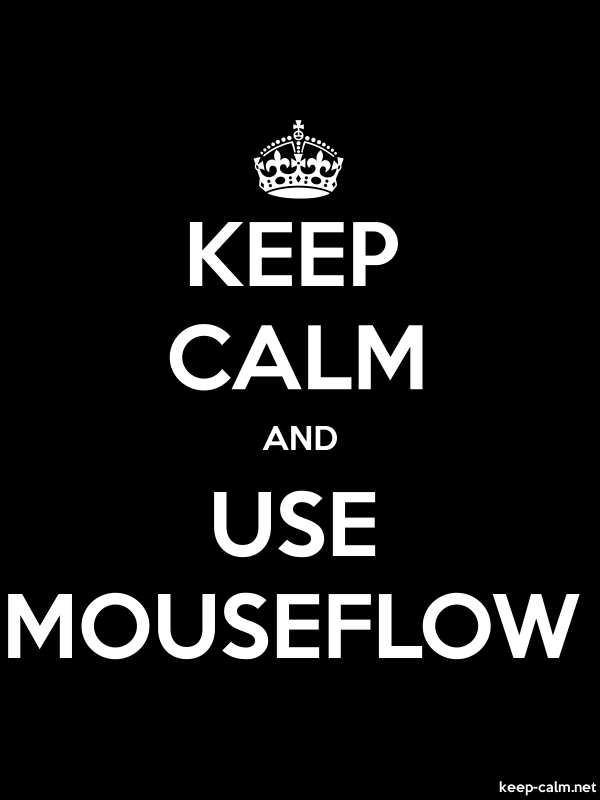 KEEP CALM AND USE MOUSEFLOW - white/black - Default (600x800)