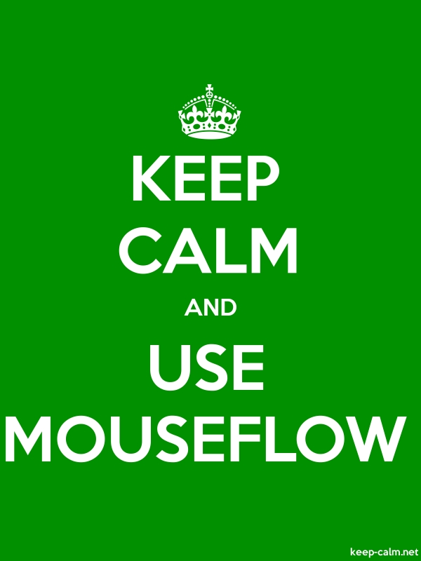 KEEP CALM AND USE MOUSEFLOW - white/green - Default (600x800)