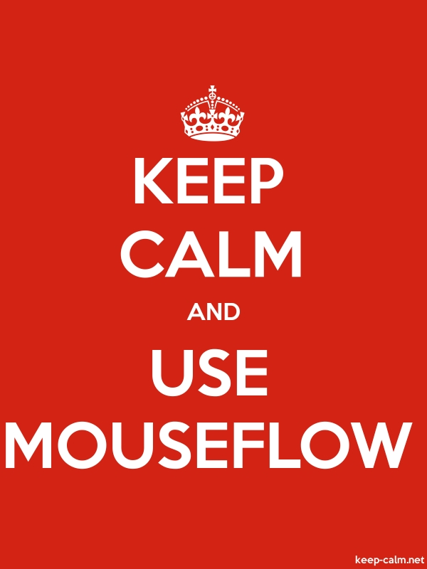 KEEP CALM AND USE MOUSEFLOW - white/red - Default (600x800)