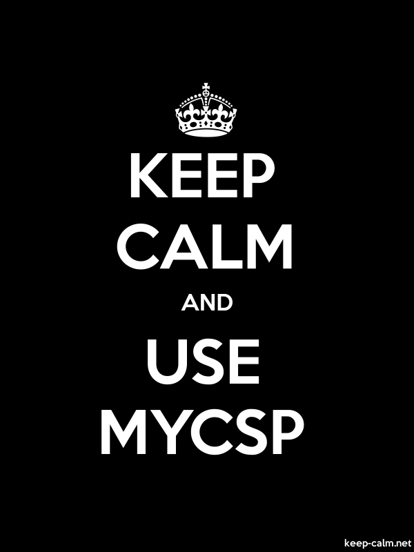 KEEP CALM AND USE MYCSP - white/black - Default (600x800)
