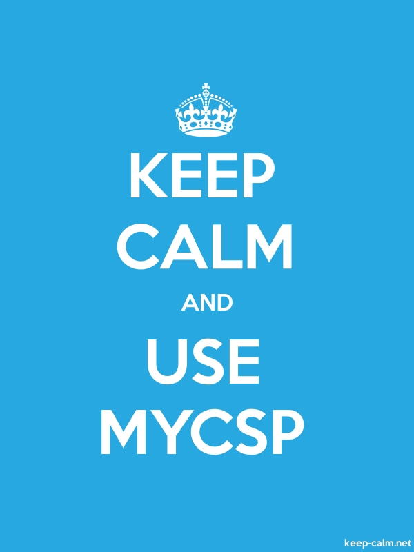 KEEP CALM AND USE MYCSP - white/blue - Default (600x800)
