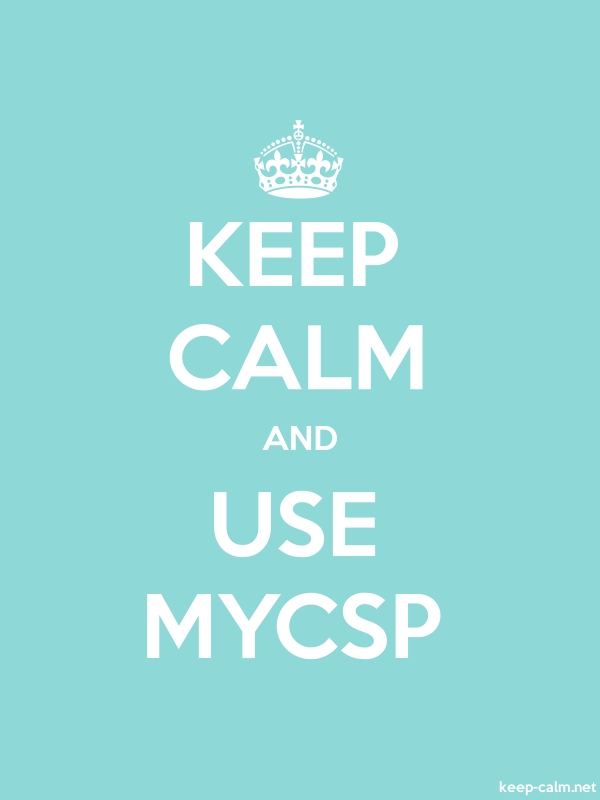 KEEP CALM AND USE MYCSP - white/lightblue - Default (600x800)