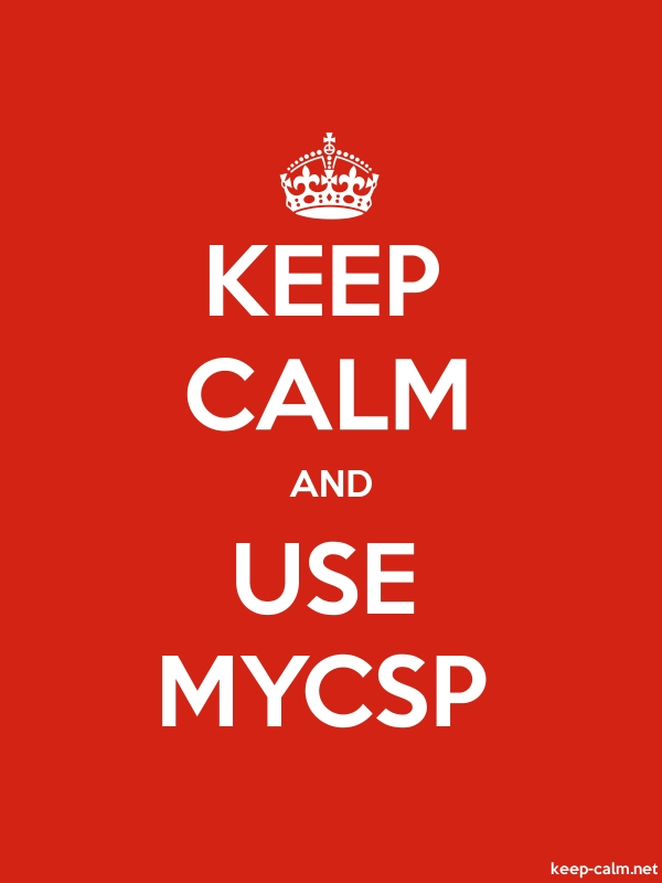 KEEP CALM AND USE MYCSP - white/red - Default (600x800)
