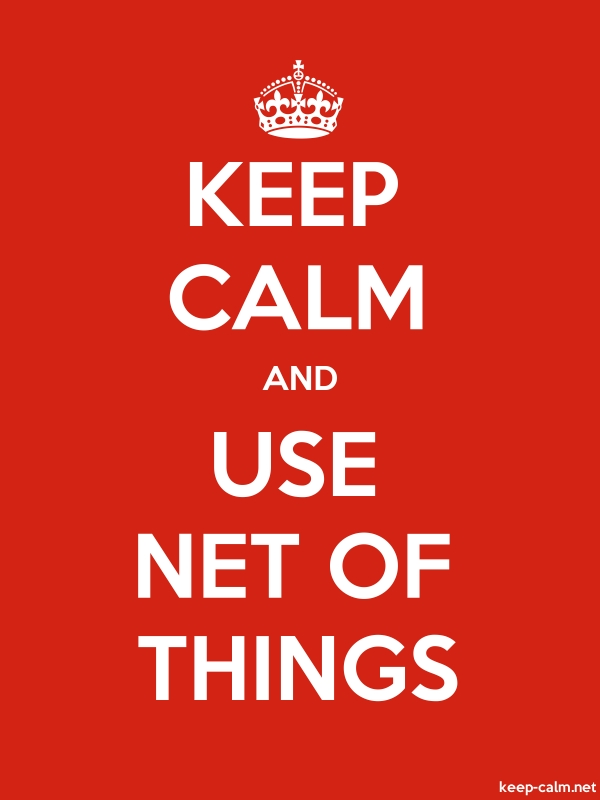 KEEP CALM AND USE NET OF THINGS - white/red - Default (600x800)