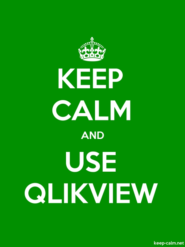 KEEP CALM AND USE QLIKVIEW - white/green - Default (600x800)