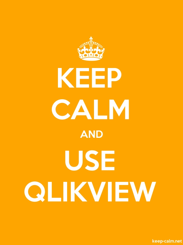 KEEP CALM AND USE QLIKVIEW - white/orange - Default (600x800)