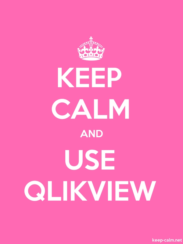 KEEP CALM AND USE QLIKVIEW - white/pink - Default (600x800)