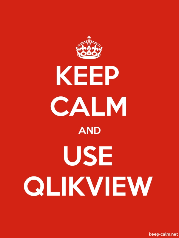KEEP CALM AND USE QLIKVIEW - white/red - Default (600x800)