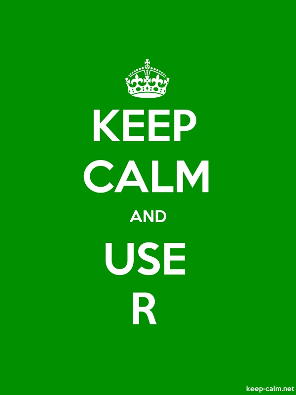 KEEP CALM AND USE R - white/green - Default (600x800)