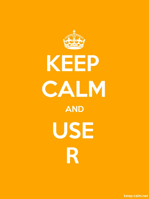 KEEP CALM AND USE R - white/orange - Default (600x800)