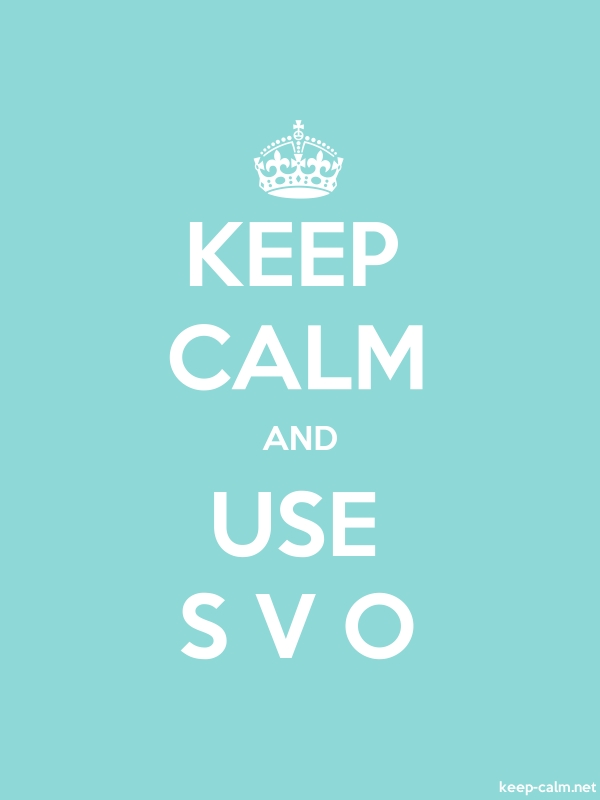 KEEP CALM AND USE S V O - white/lightblue - Default (600x800)