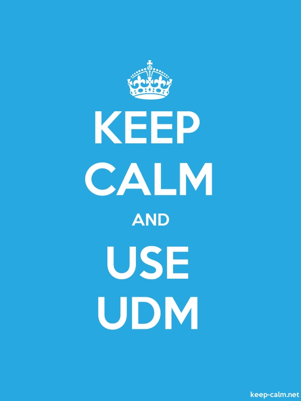 KEEP CALM AND USE UDM - white/blue - Default (600x800)