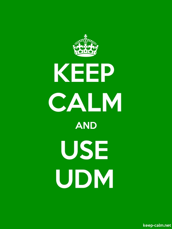 KEEP CALM AND USE UDM - white/green - Default (600x800)