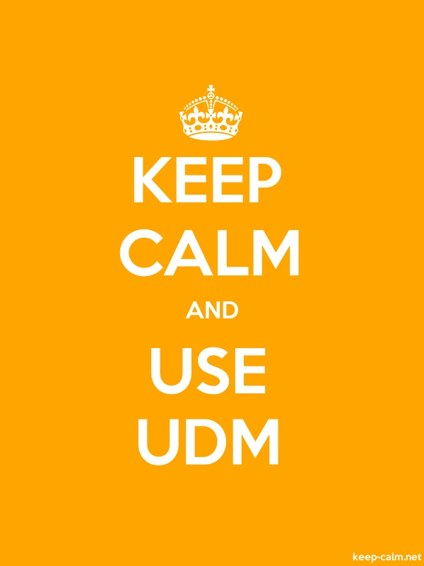KEEP CALM AND USE UDM - white/orange - Default (600x800)