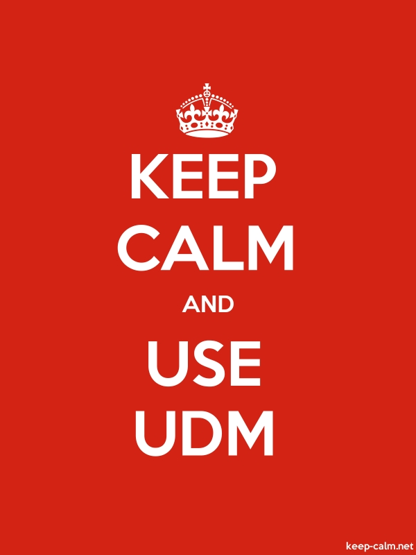 KEEP CALM AND USE UDM - white/red - Default (600x800)