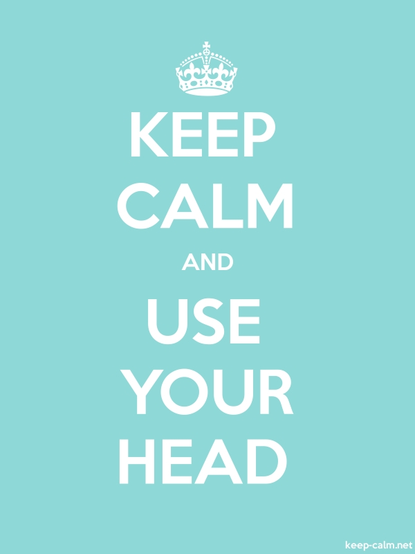 KEEP CALM AND USE YOUR HEAD - white/lightblue - Default (600x800)