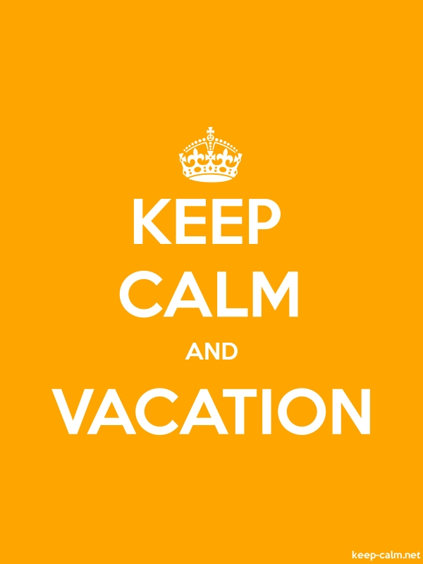KEEP CALM AND VACATION - white/orange - Default (600x800)