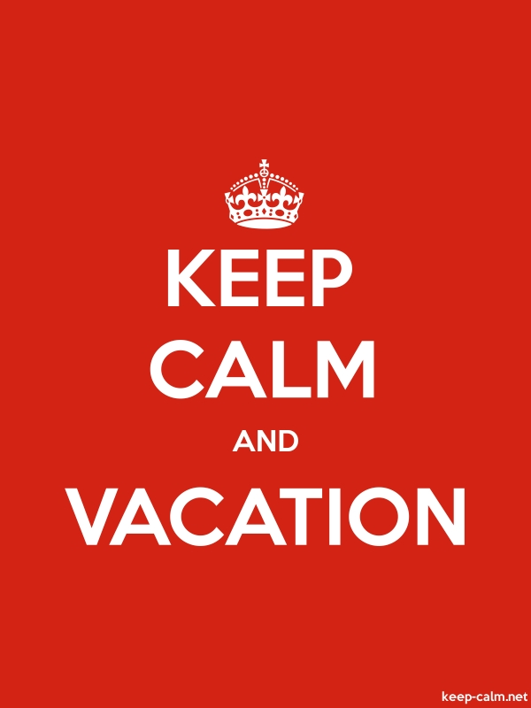 KEEP CALM AND VACATION - white/red - Default (600x800)