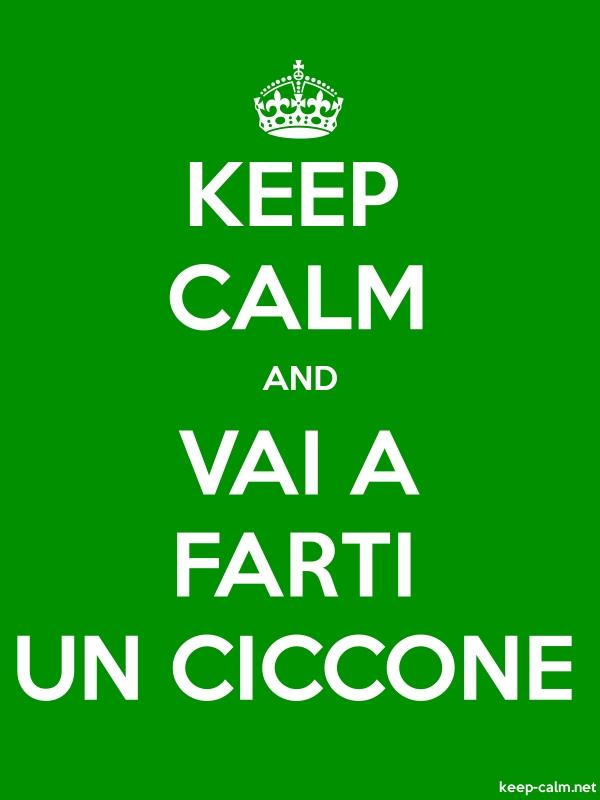 KEEP CALM AND VAI A FARTI UN CICCONE - white/green - Default (600x800)