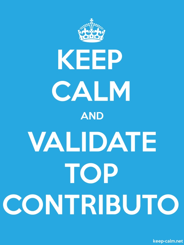 KEEP CALM AND VALIDATE TOP CONTRIBUTO - white/blue - Default (600x800)