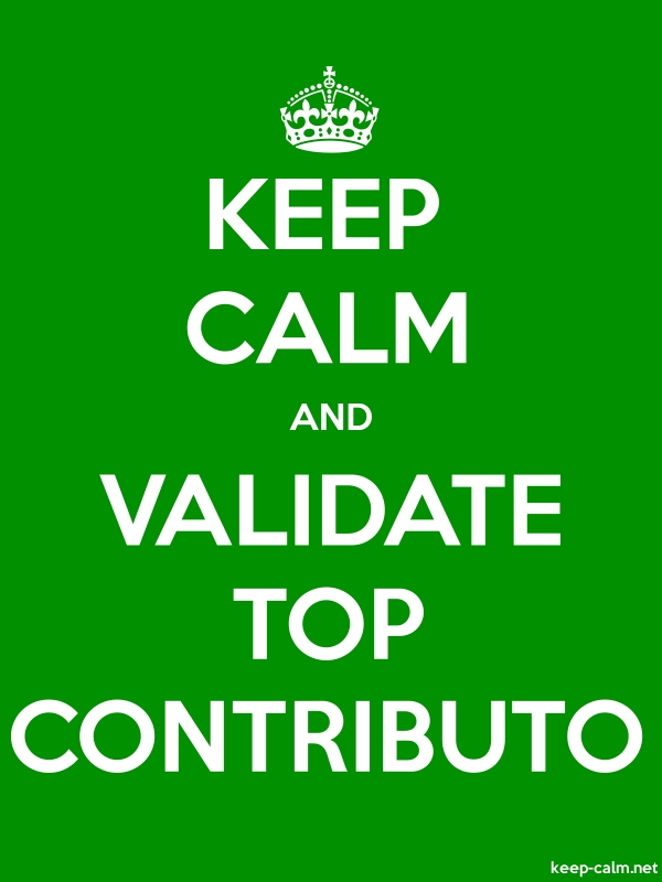 KEEP CALM AND VALIDATE TOP CONTRIBUTO - white/green - Default (600x800)