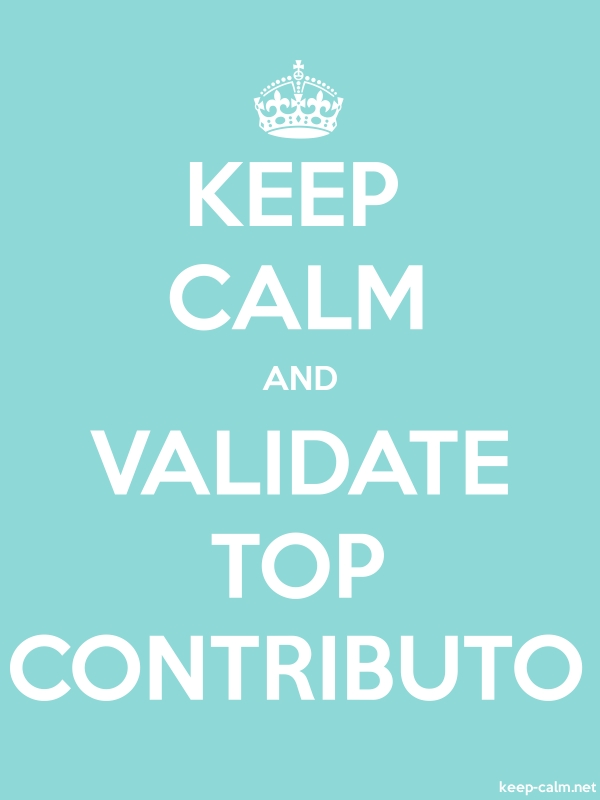 KEEP CALM AND VALIDATE TOP CONTRIBUTO - white/lightblue - Default (600x800)