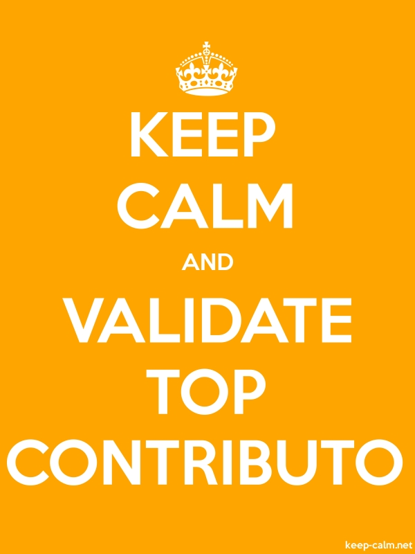 KEEP CALM AND VALIDATE TOP CONTRIBUTO - white/orange - Default (600x800)
