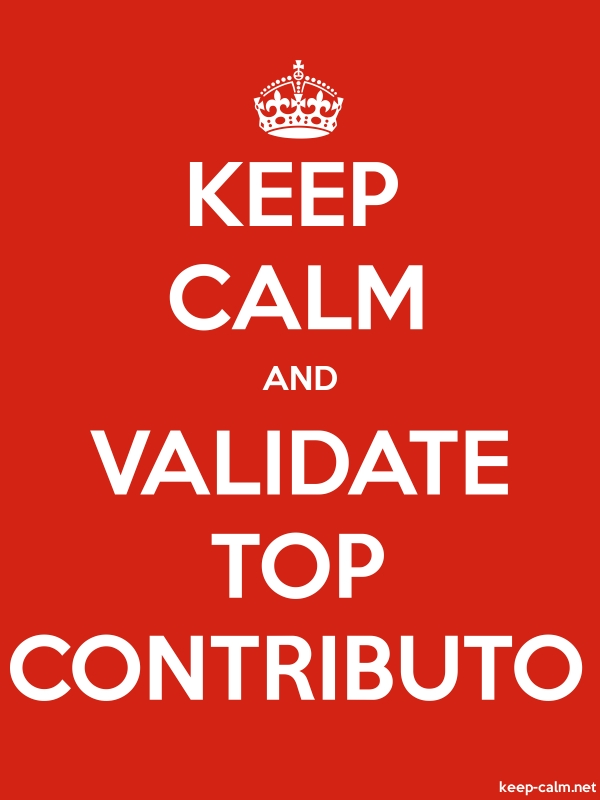 KEEP CALM AND VALIDATE TOP CONTRIBUTO - white/red - Default (600x800)
