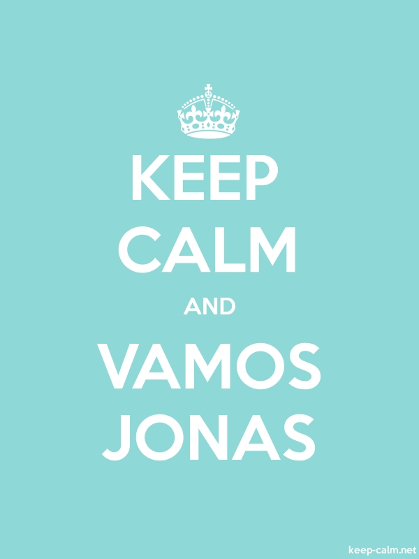 KEEP CALM AND VAMOS JONAS - white/lightblue - Default (600x800)