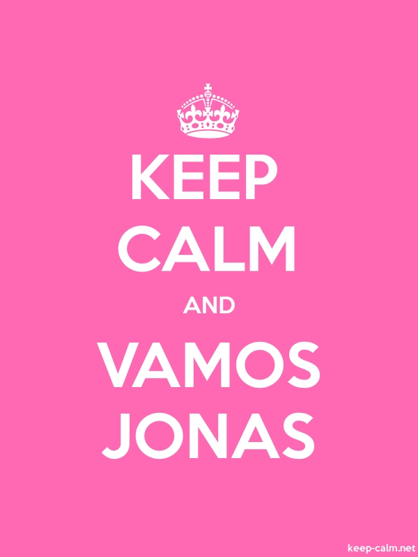 KEEP CALM AND VAMOS JONAS - white/pink - Default (600x800)