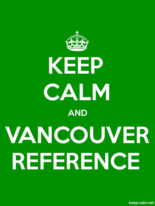 KEEP CALM AND VANCOUVER REFERENCE - white/green - Default (600x800)